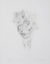 Hans BELLMER - Grabado - Rose Ou Vert La Nuit