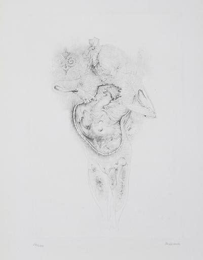 Hans BELLMER - Stampa Multiplo - Rose Ou Vert La Nuit