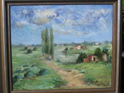 Max SCHWIMMER - Pintura - Drei Pappeln