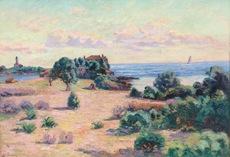 Armand GUILLAUMIN - Pintura - Agay, Phare de la Baumette, Baie de Boulouris