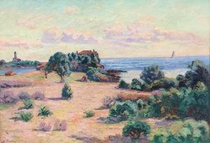 Armand GUILLAUMIN - Painting - Agay, Phare de la Baumette, Baie de Boulouris