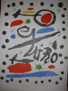 Joan MIRO, HOMENAJE A JOAN MIRO. HAND SIGNED BY ARTIST
