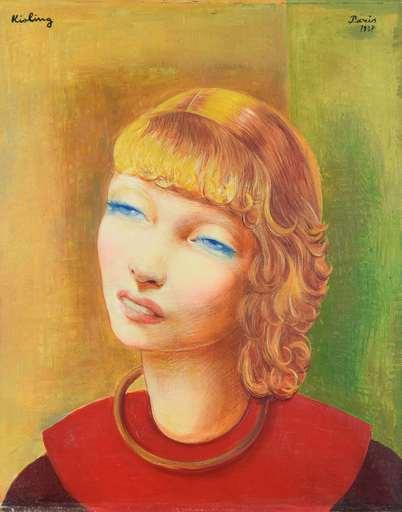 Moïse KISLING - Peinture - Jeune Fille Rousse