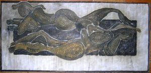 Alexis Kogeynikow KOW - Peinture - nus cubisants