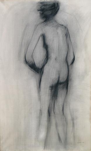 Giuseppe AJMONE - Drawing-Watercolor - Nudo