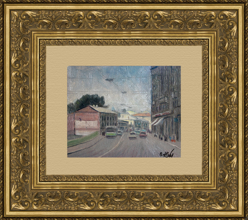Valeriy NESTEROV - Gemälde - Moscow. Solyanka Street 1/2