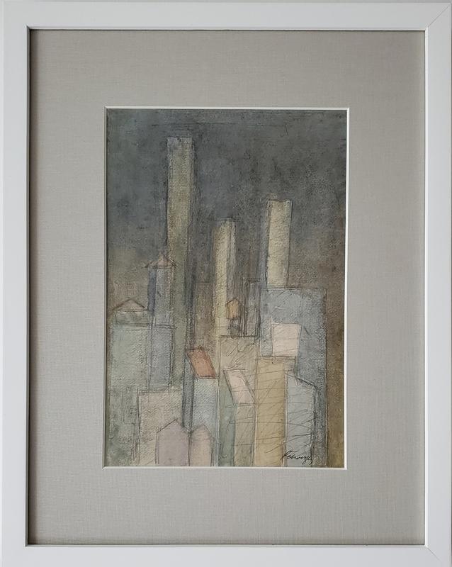 Ivan PETROVSKY - Drawing-Watercolor - Wall Street