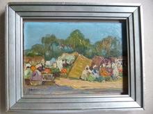 Jean Roger SOURGEN (1883-1978) - Le marché à Rabat.Maroc