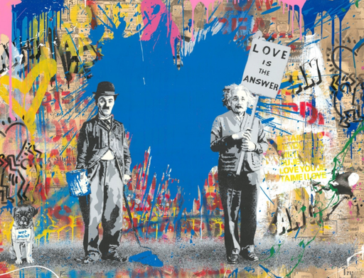 MR BRAINWASH - Gemälde - Juxtapose