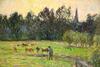 Camille PISSARRO - Peinture - Vacher dans un Pré à Éragny