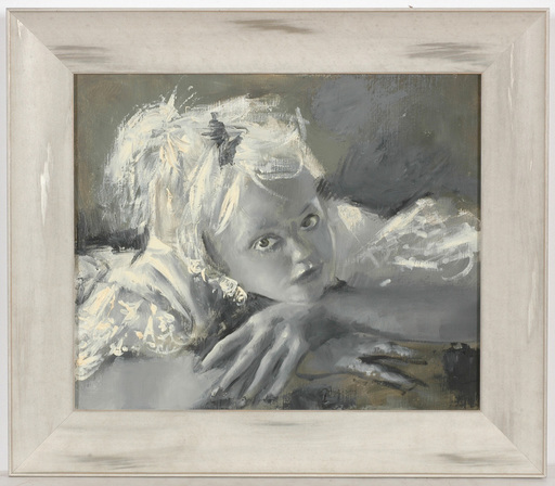 """Pierre Laurent BRENOT - Peinture - """"Dominique"""", oil on canvas, 1960/70s"""