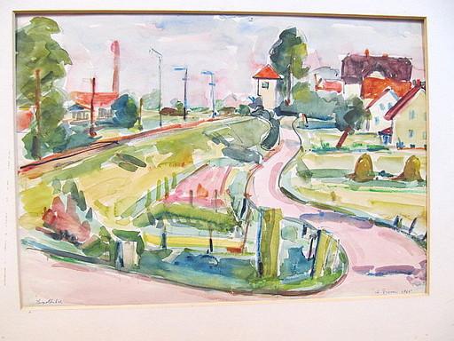 Rolf DIENER - Drawing-Watercolor - Leopoldstal