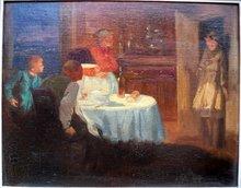 Gaston HOFFMANN - Painting - Le retour de l'enfant prodigue