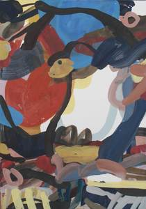Sandra DETOURBET - Painting - Abrit Troglodyte