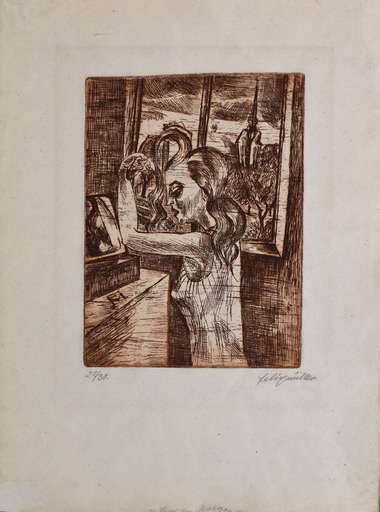 Conrad FELIXMÜLLER - Print-Multiple - Woman in the Morning - Grooming