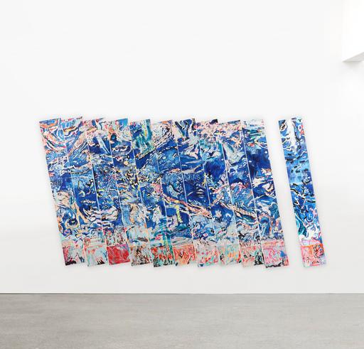 Nancy Stevenson GRAVES - Pintura - Untitled Blue