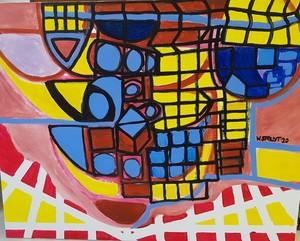 Walter SPRUYT - Pintura - Covid 19 Escape