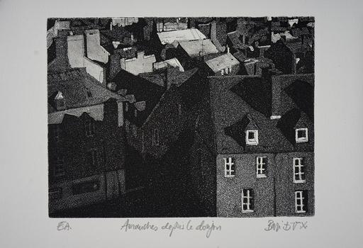 Eric BARI - Print-Multiple - Avranches depuis le donjon