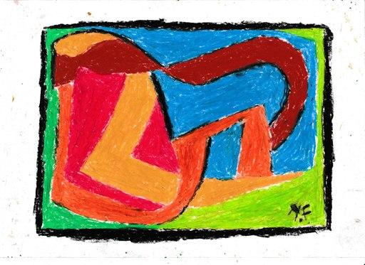 Harry BARTLETT FENNEY - Drawing-Watercolor - abstrait helter skelter