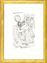 马克斯•贝克曼 - 版画 - Umarmung