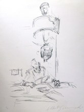 阿尔贝托•贾科梅蒂 - 版画 - *Mere et L' Artiste L'isant