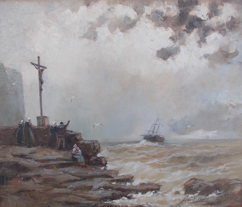 Albert HIRTZ - Pintura - Le départ
