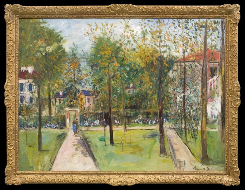 Maurice UTRILLO - Peinture - Le Parc de M. et Mme Utrillo au Vésinet