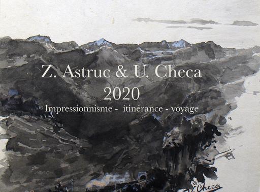Ulpiano CHECA Y SANZ - Dibujo Acuarela - Colmenar de Oreja -  España - Astruc