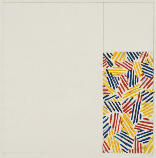 """Jasper JOHNS - Stampa-Multiplo - #4, FROM 6 LITHOGRAPHS (AFTER """"UNTITLED 1975"""")"""