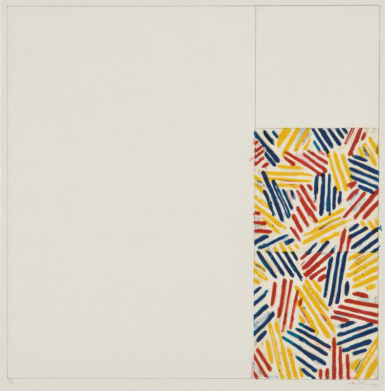 """Jasper JOHNS - Print-Multiple - #4, FROM 6 LITHOGRAPHS (AFTER """"UNTITLED 1975"""")"""
