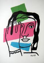 费尔南‧雷杰 - 版画 - Tete de Femme