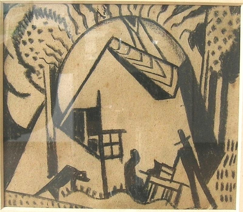 Béla KADAR - Drawing-Watercolor -  Das Haus