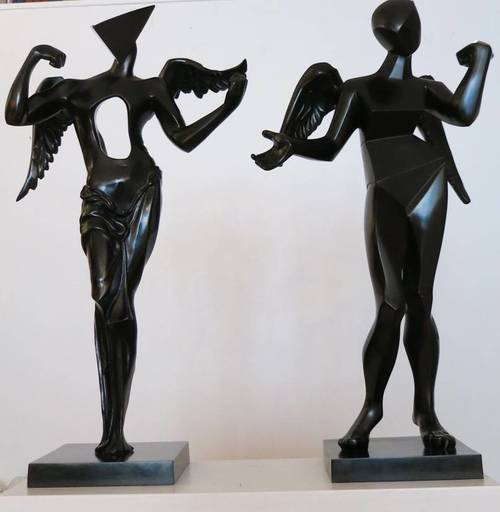 Salvador DALI - Sculpture-Volume - Surrealist and Cubist Angels