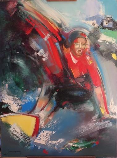 Christian JAUREGUY - Painting - Le surf