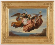 "Carl VON BLAAS - Painting - ""St.Catharina"", 1852, Oil Painting"