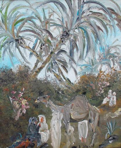 Louis ALBAN - Pintura - Village oriental