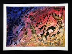Shijo Alan BURNER - Gemälde - Bach Violon Concerto #5