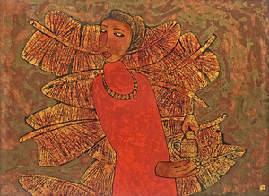 Trinh TUAN - Painting - Lady in Red