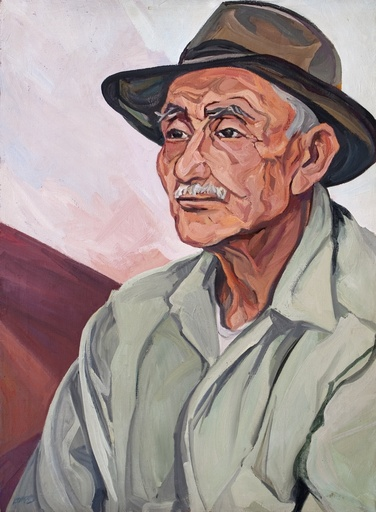 Pablo Esteban O'HIGGINS - Painting - Portrait of Uncle Juan