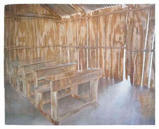 Christoph POGGELER - Peinture - Haus (Schule)