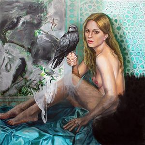 Nathalie BIBOUGOU - Painting - « Coronis »
