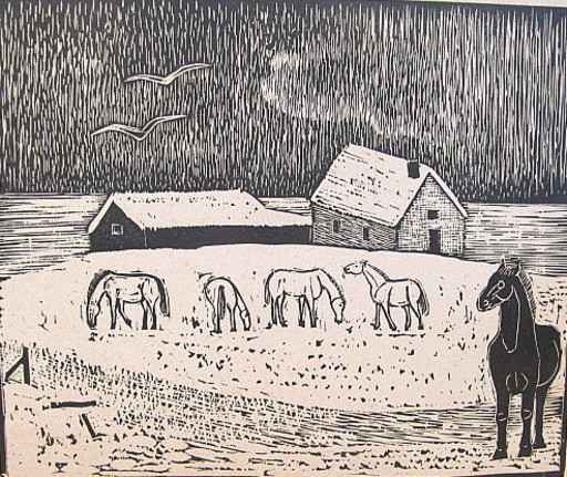 Gerhard MARCKS - Print-Multiple - Pferdehof.