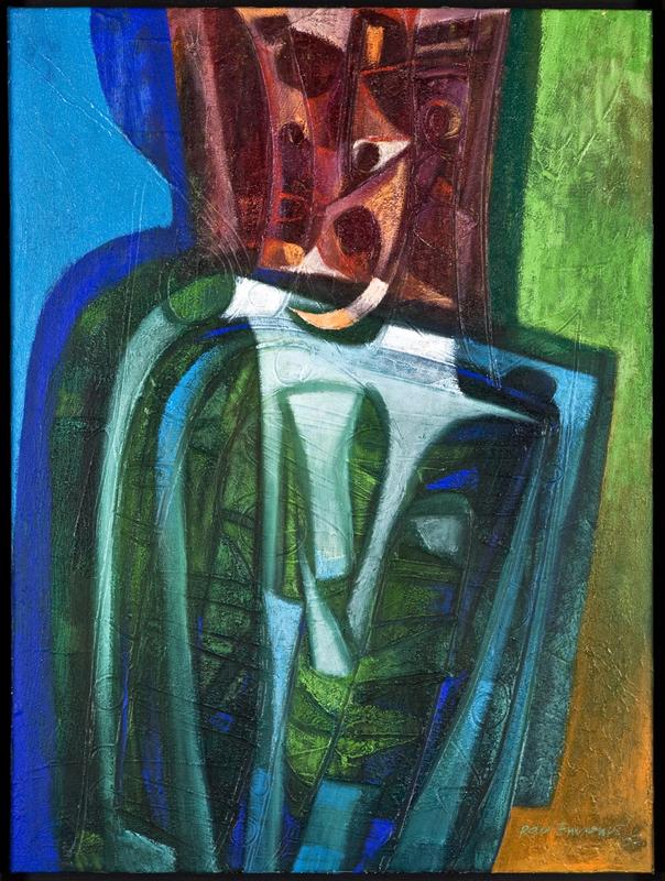 Raul ENMANUEL - Pintura - La pose correcta
