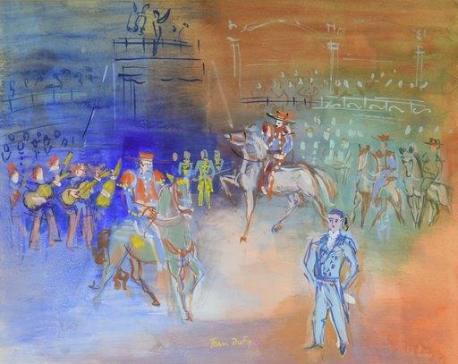 Jean DUFY - Dibujo Acuarela - Parade Mexicaine