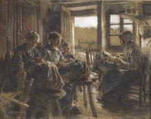 Léon Augustin LHERMITTE (1844-1925) - The Lacemakers of the Vosges (Les Dentellières des Vosges)