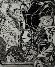 弗兰克•斯特拉 - 版画 - Engraving IX
