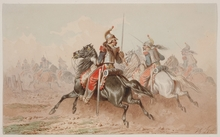 """Theodore FORT - Pintura - """"French Cavalry"""", Watercolor"""