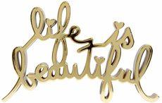 MR BRAINWASH - Sculpture-Volume - Life is Beautiful - Hard Candy (Gold Mirror)