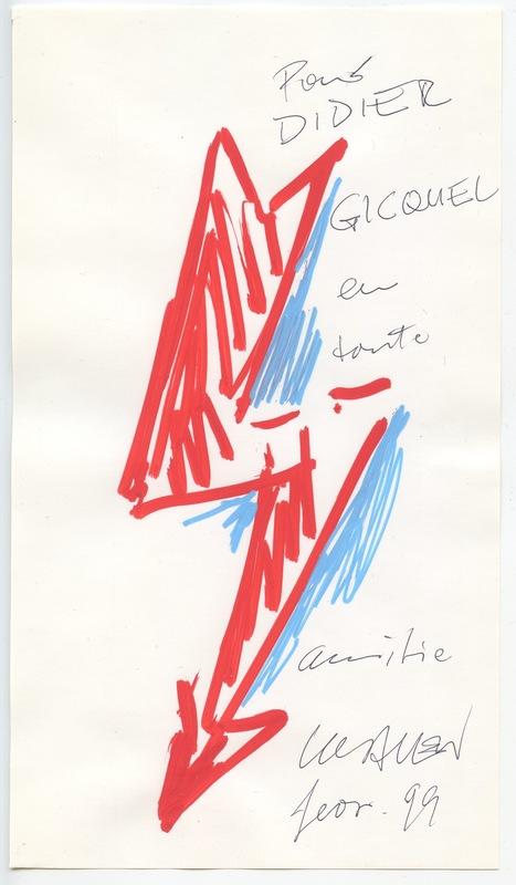 Peter KLASEN - 水彩作品 - DESSIN AUX FEUTRES SIGNÉ À L'ENCRE HANDSIGNED FELT DRAWING