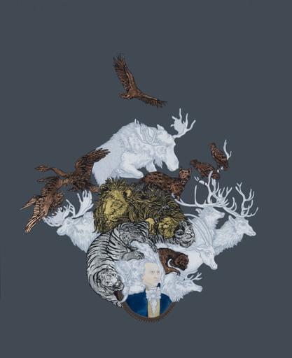 Justin RICHEL - Dibujo Acuarela - The Lion' s Share